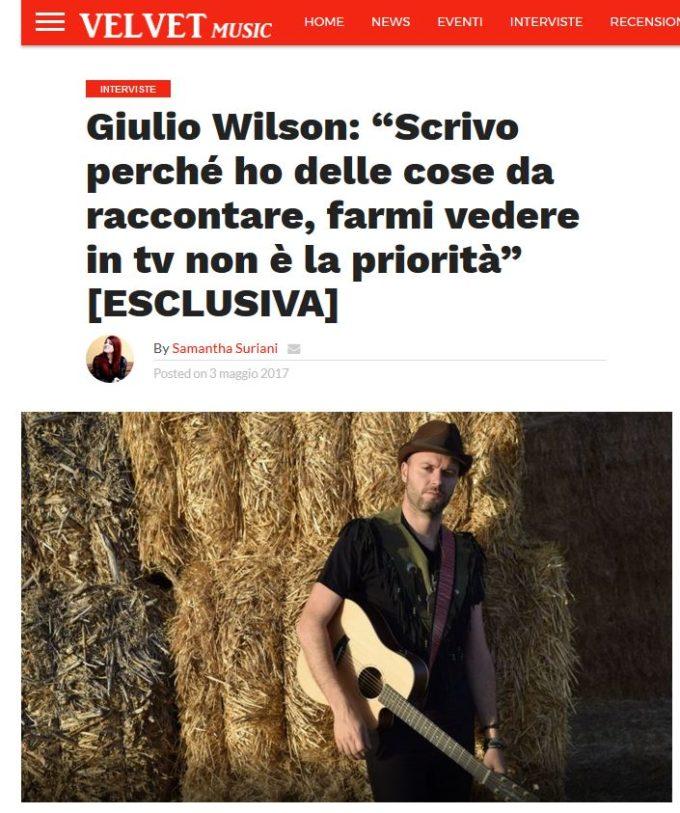 Velvetmusic intervista a Giulio Wilson